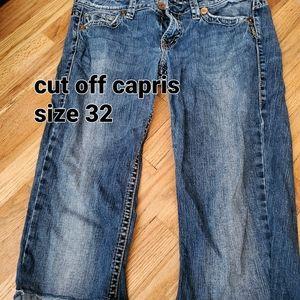 Silver Eden cut off Capris size 32